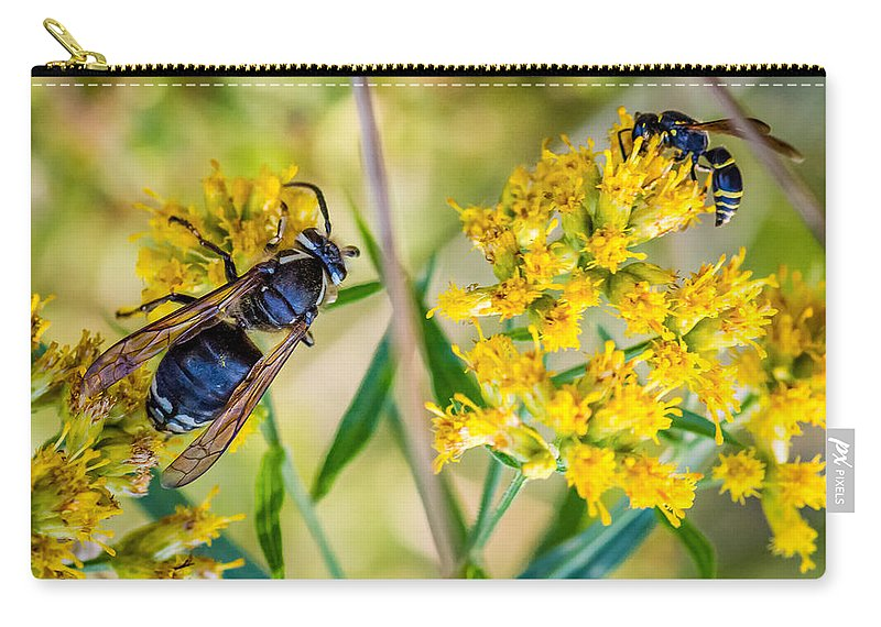 Steve Harrington Carry-all Pouch featuring the photograph Wasp 2 by Steve Harrington