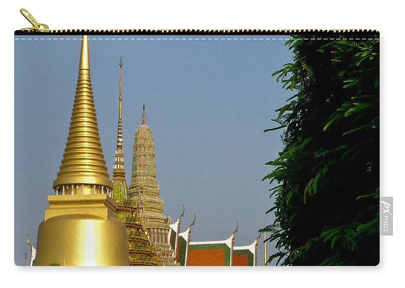 Wat Po Carry-all Pouch featuring the photograph Wat Po 1 by Douglas Barnett