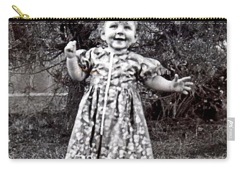 Vintage Carry-all Pouch featuring the photograph Watch Me Walk by Image Takers Photography LLC