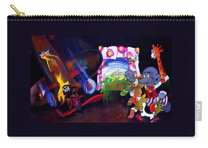 Cartoon Carry-all Pouch featuring the painting Watch With Mother by Charles Stuart