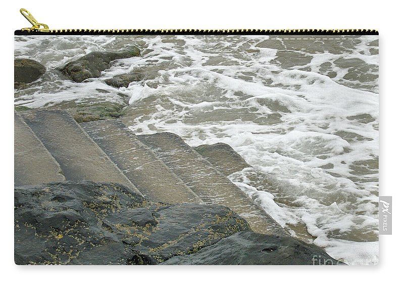 Sea Carry-all Pouch featuring the photograph Watch Your Step by Brenda Brown