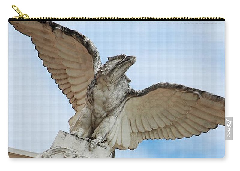 Eagle Carry-all Pouch featuring the photograph Watchful Eagle by Stephanie Guinn