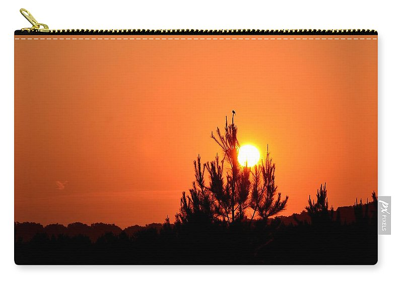 Watching The Sun Rise Carry-all Pouch featuring the photograph Watching The Sun Rise by Maria Urso
