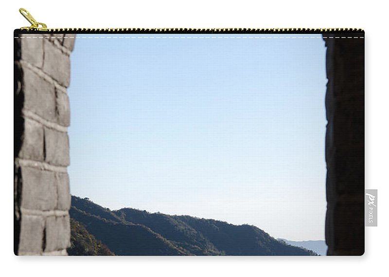 Window View Carry-all Pouch featuring the photograph Watchtower View From The Great Wall 1082 by Terri Winkler
