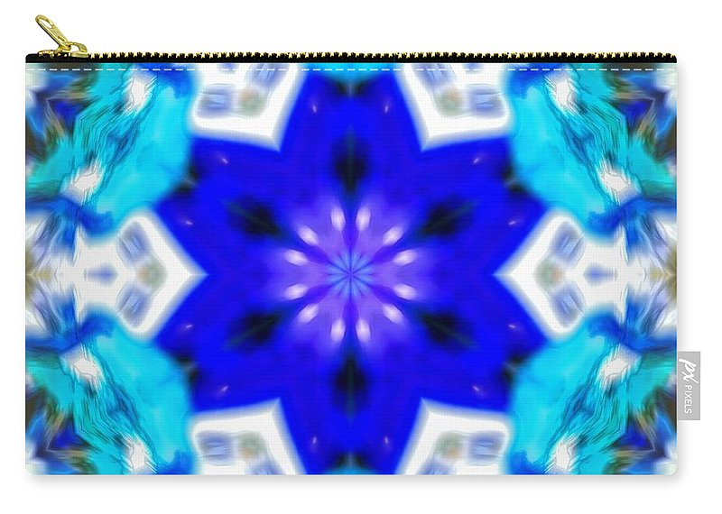 Sacredlife Mandalas Carry-all Pouch featuring the photograph Water Birth by Derek Gedney