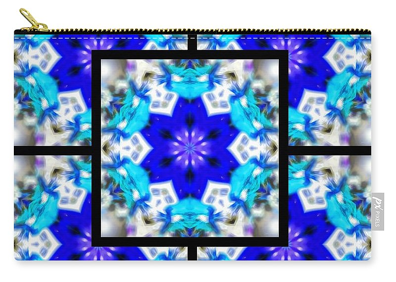 Sacredlife Mandalas Carry-all Pouch featuring the digital art Water Birth Page by Derek Gedney