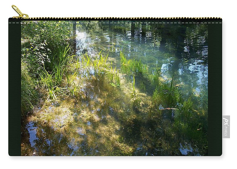 Landscape Carry-all Pouch featuring the photograph Water Colors by Mary Wolf