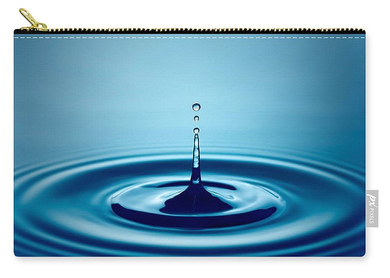 Water Carry-all Pouch featuring the photograph Water Drop Splash by Johan Swanepoel