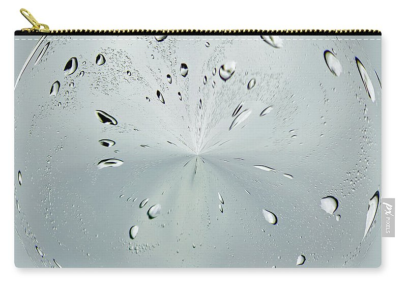 Water Carry-all Pouch featuring the photograph Water Drop Splash by Tikvah's Hope