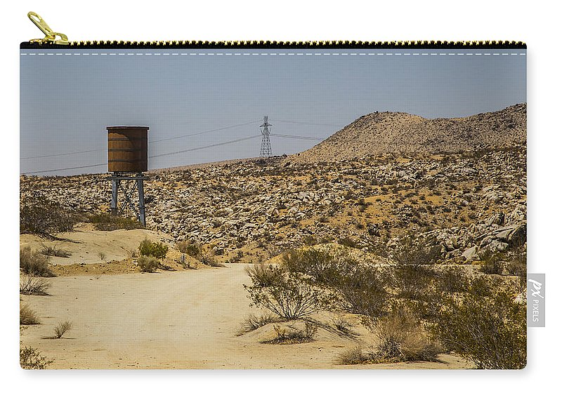Route 66 Carry-all Pouch featuring the photograph Water In The Desert by Angus Hooper Iii