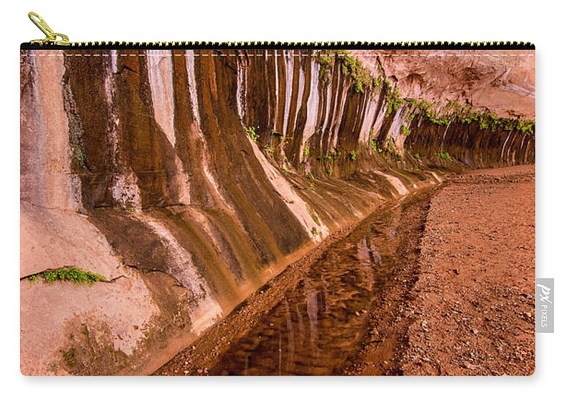 Water Carry-all Pouch featuring the photograph Water Is Life - Coyote Gulch - Utah by Gary Whitton