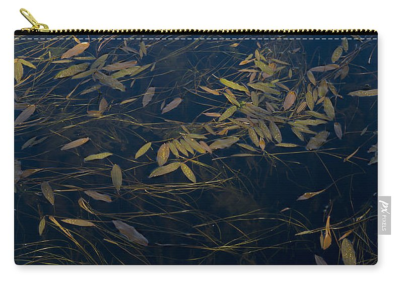 Leaves Carry-all Pouch featuring the photograph Water Leaves by Gary Eason