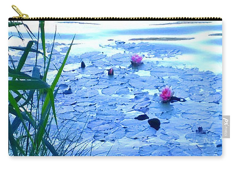 Landscape Carry-all Pouch featuring the photograph Water Lilies Blue by Theo Danella