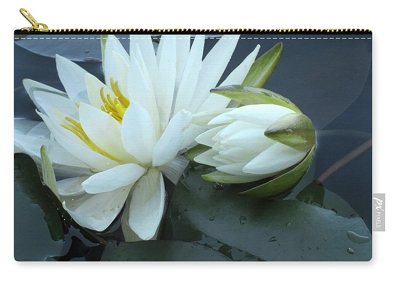 Water Lily Carry-all Pouch featuring the photograph Water Lilies by Kathy Anderson