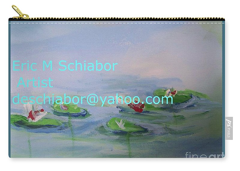 Water Lilies Carry-all Pouch featuring the painting Water Lilies Print by Eric Schiabor