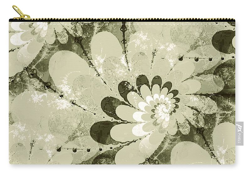 Plant Carry-all Pouch featuring the digital art Water Lilies Spirals by Anastasiya Malakhova