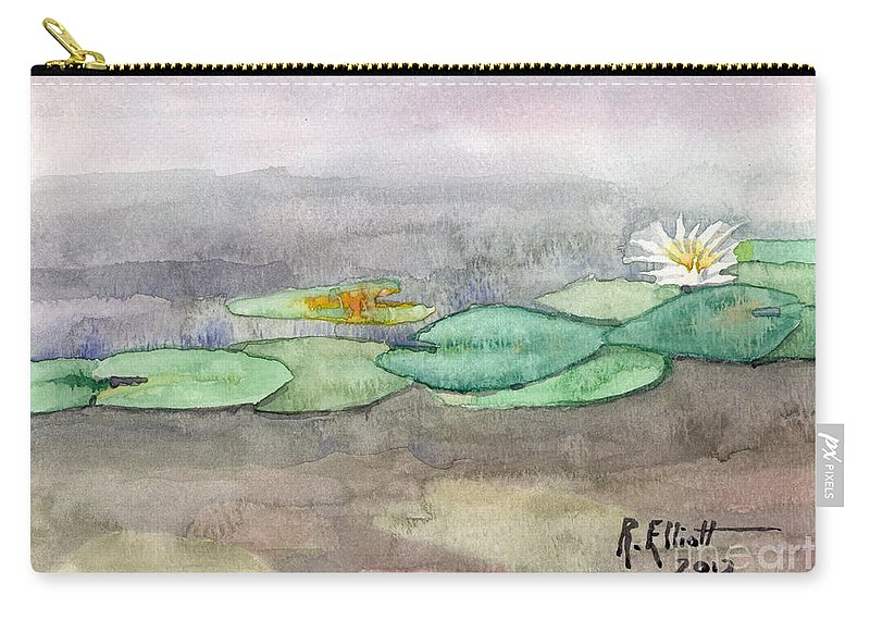 Acrylic Prints Carry-all Pouch featuring the painting Water Lilly by John Herzog