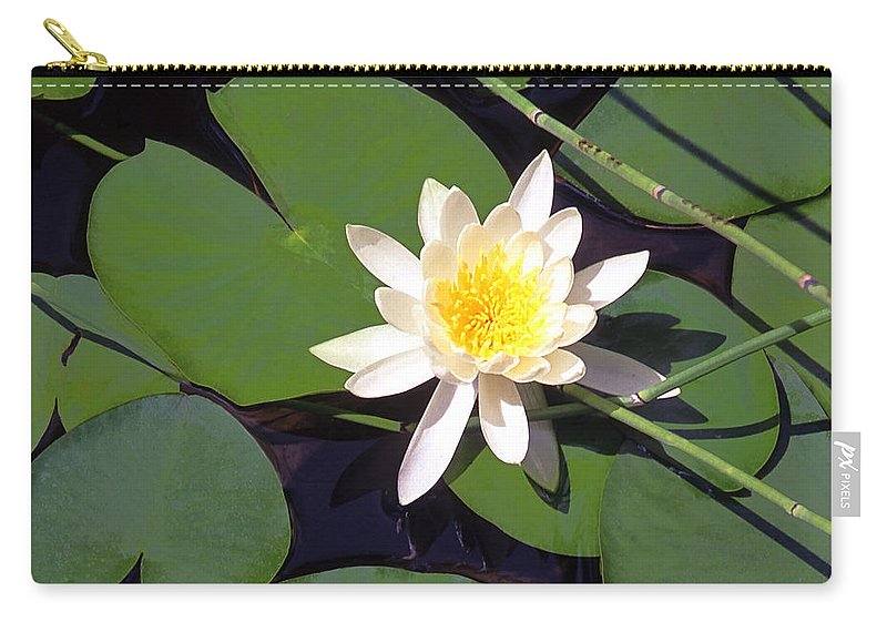 Lilies Carry-all Pouch featuring the photograph Water Lily I I I by Jim Smith