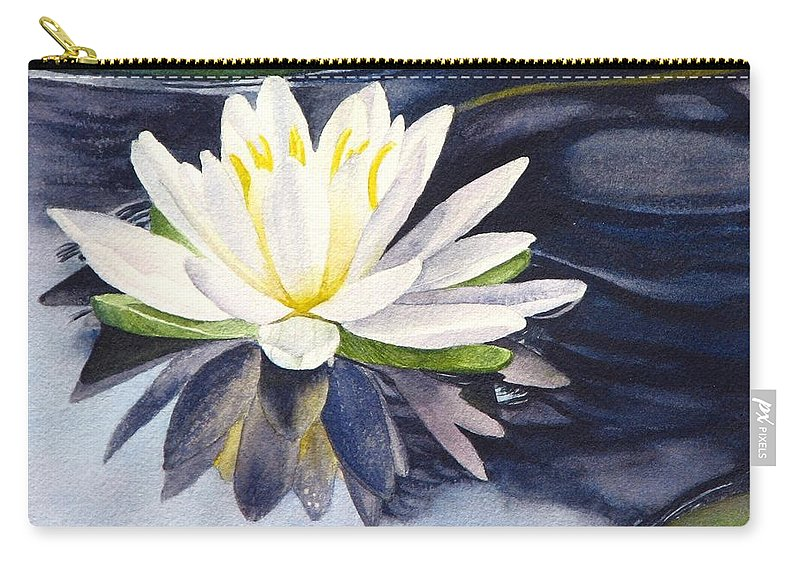 Water Lily Carry-all Pouch featuring the painting Water Lily by Sharon Farber