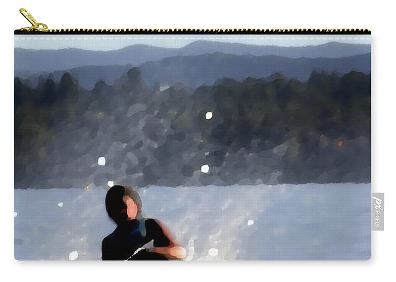 Recreation Carry-all Pouch featuring the photograph Water Skier by Jerry Sodorff