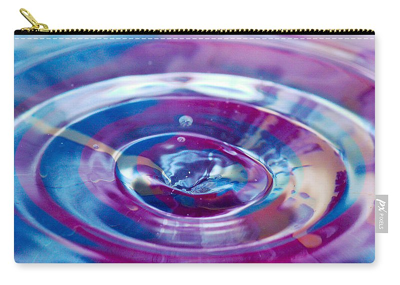 Water Drop Carry-all Pouch featuring the photograph Water Splash Rings by Crystal Wightman