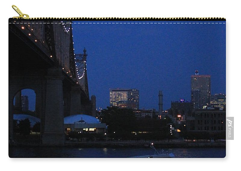 Queensboro Bridge Carry-all Pouch featuring the photograph Water Taxi by Catie Canetti