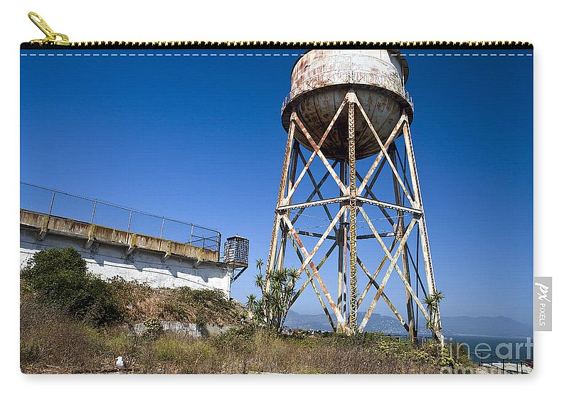 United States Of America Carry-all Pouch featuring the photograph Water Tower Alcatraz Island by Jason O Watson