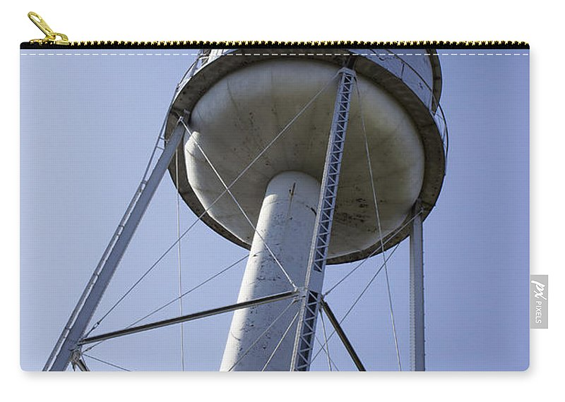 Water Tower Carry-all Pouch featuring the photograph Water Tower Deer Lodge Montana by Cathy Anderson