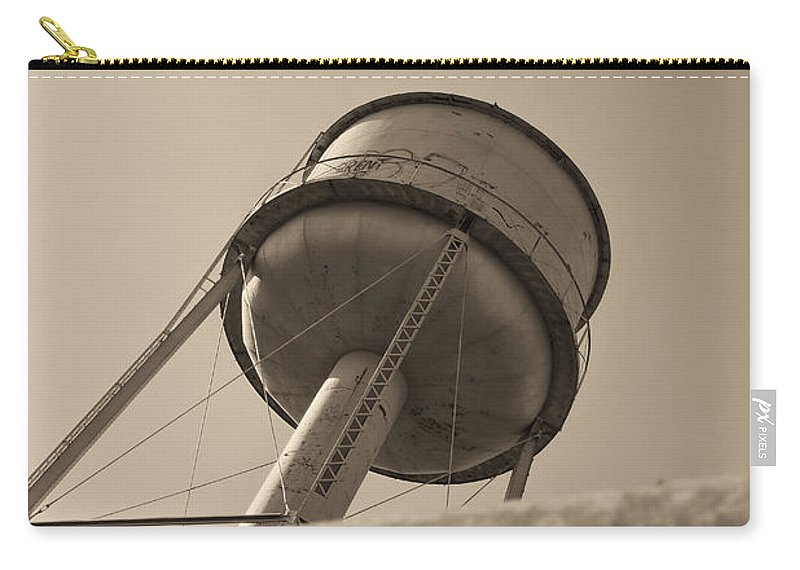 Deer Lodge Montana Carry-all Pouch featuring the photograph Water Tower In Deer Lodge Montana by Cathy Anderson
