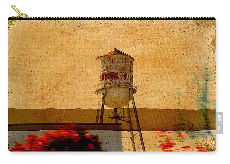 Wright Carry-all Pouch featuring the photograph Water Tower by Paulette B Wright