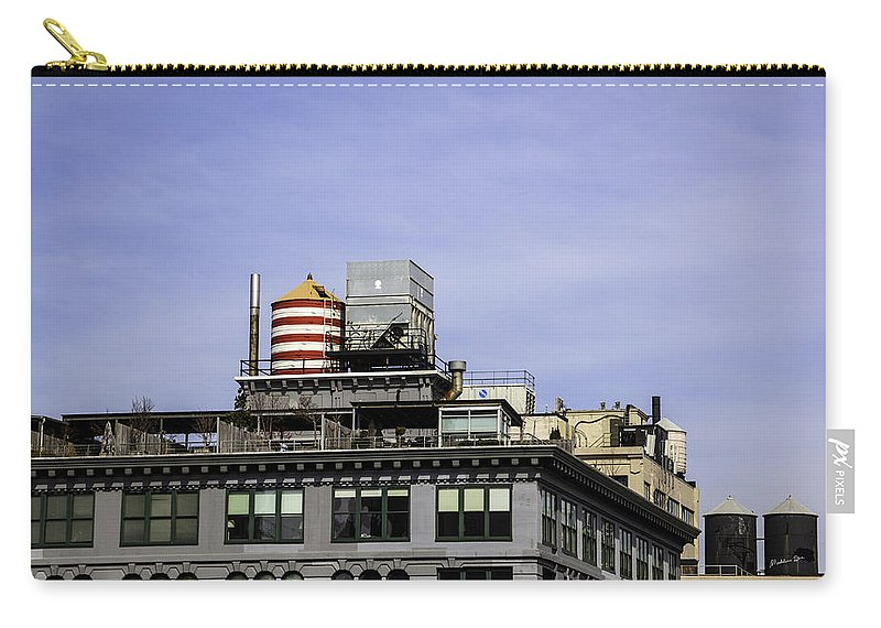 Water Tower Carry-all Pouch featuring the photograph Water Tower View by Madeline Ellis