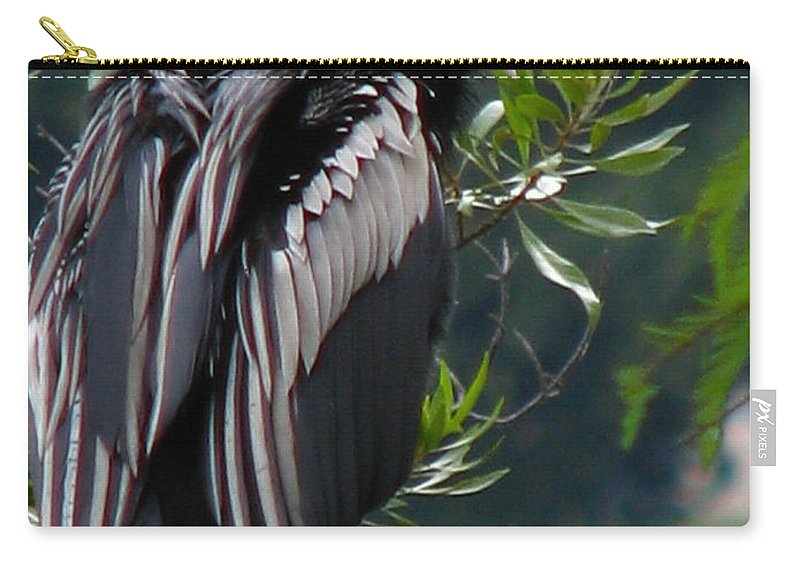 Patzer Carry-all Pouch featuring the photograph Water Turkey by Greg Patzer