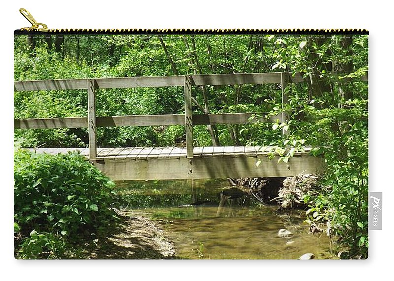 Bridge Carry-all Pouch featuring the photograph Water Under The Bridge by Sara Raber