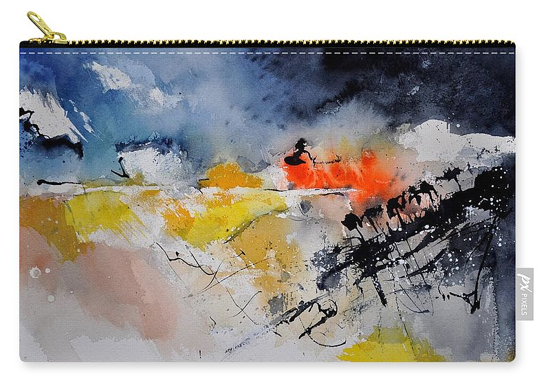 Abstract Carry-all Pouch featuring the painting Watercolor 212132 by Pol Ledent