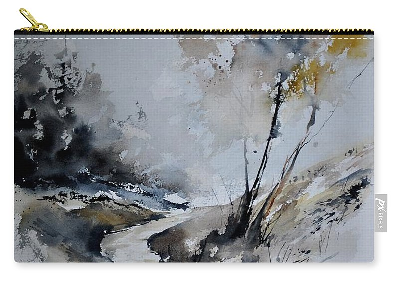 Landscape Carry-all Pouch featuring the painting Watercolor 212152 by Pol Ledent