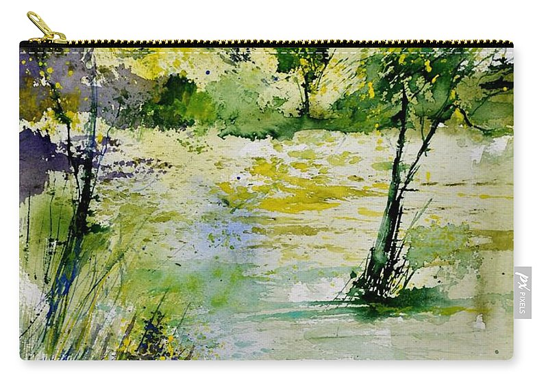 Landscape Carry-all Pouch featuring the painting Watercolor 413022 by Pol Ledent