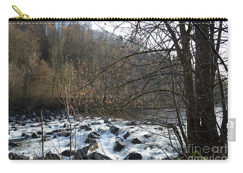 Carry-all Pouch featuring the painting Waterfall 2 by Felicia Tica