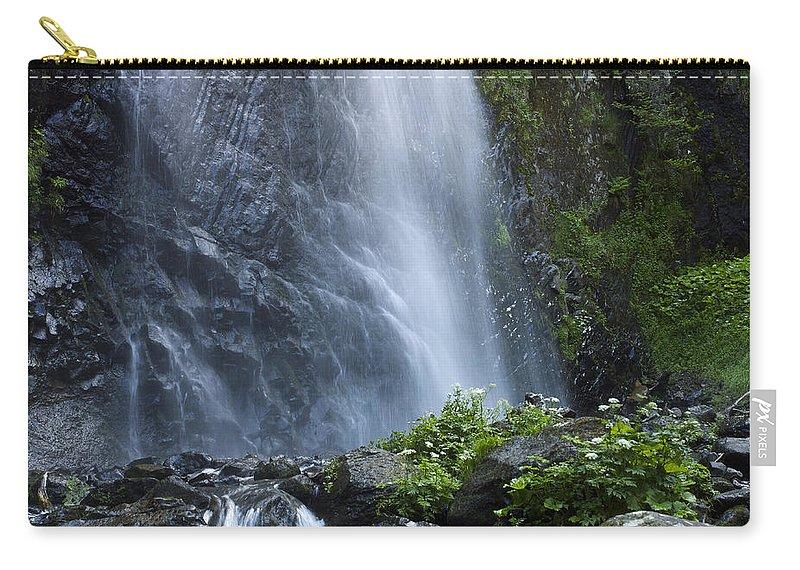 Outdoors Carry-all Pouch featuring the photograph Waterfall by Bernard Jaubert