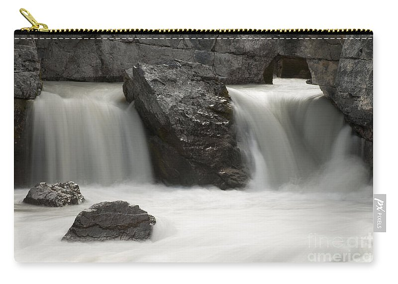 Waterfalls Carry-all Pouch featuring the photograph Waterfalls On Nigel Creek by Vivian Christopher