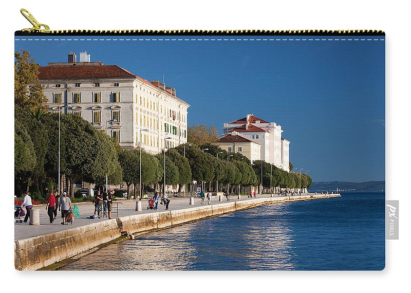Structure Carry-all Pouch featuring the photograph Waterfront Promenade In Zadar by Artur Bogacki