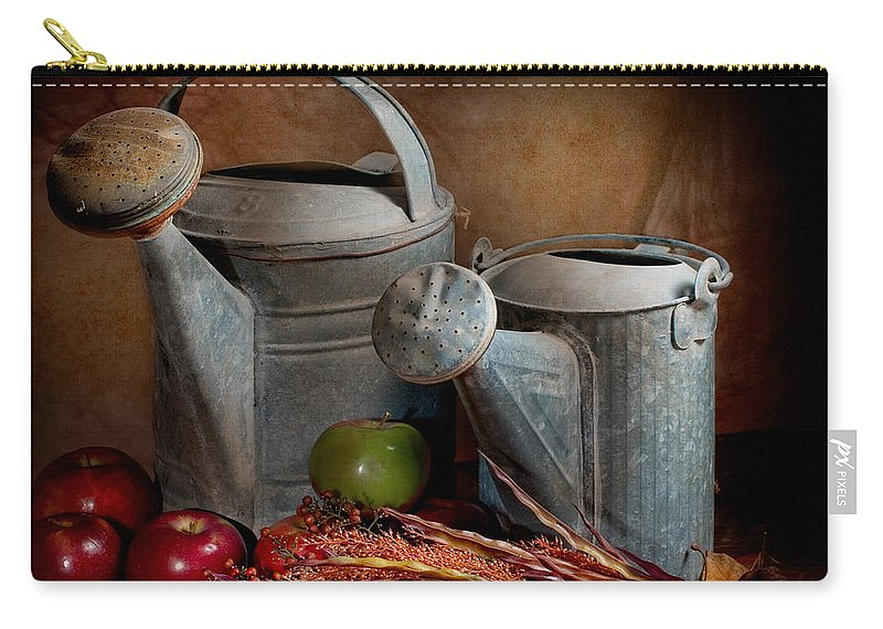 Watering Can Carry-all Pouch featuring the photograph Watering Cans by David and Carol Kelly