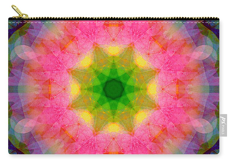 Waterlily Carry-all Pouch featuring the photograph Waterlily Mandala by Susan Bloom
