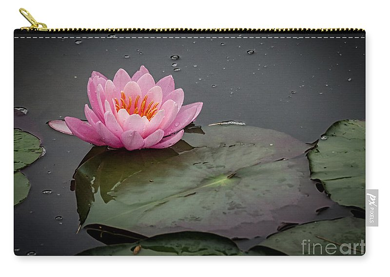 Pink Carry-all Pouch featuring the photograph Waterlily by Pat Lucas