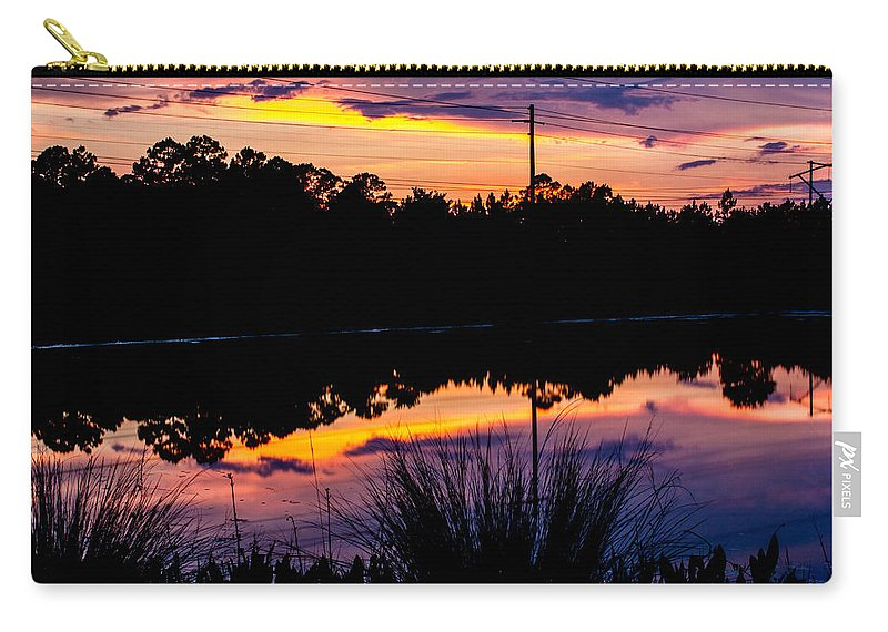 Carry-all Pouch featuring the photograph Waterpaints by Tyson Kinnison