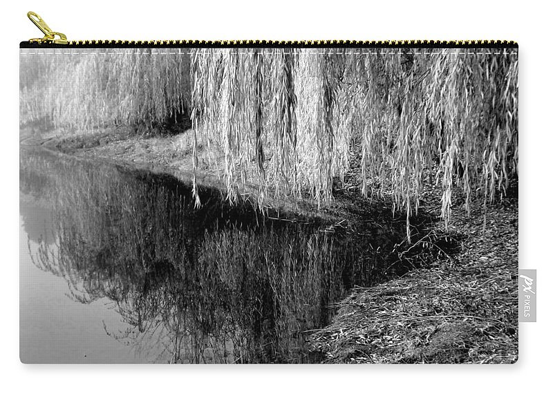 Black Carry-all Pouch featuring the photograph Waterside by Shelley Blair