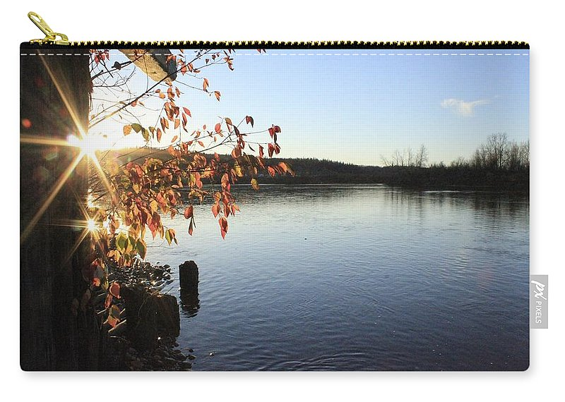 Sunset Carry-all Pouch featuring the photograph Waterways River View by Alanna DPhoto