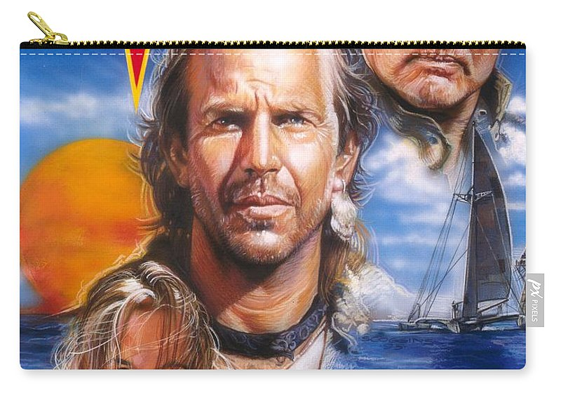 Movie Carry-all Pouch featuring the painting Waterworld by Timothy Scoggins