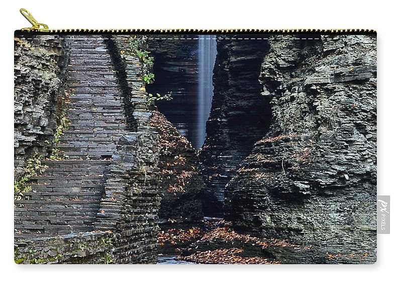 Watkins Carry-all Pouch featuring the photograph Watkins Glen Central Cascade by Frozen in Time Fine Art Photography