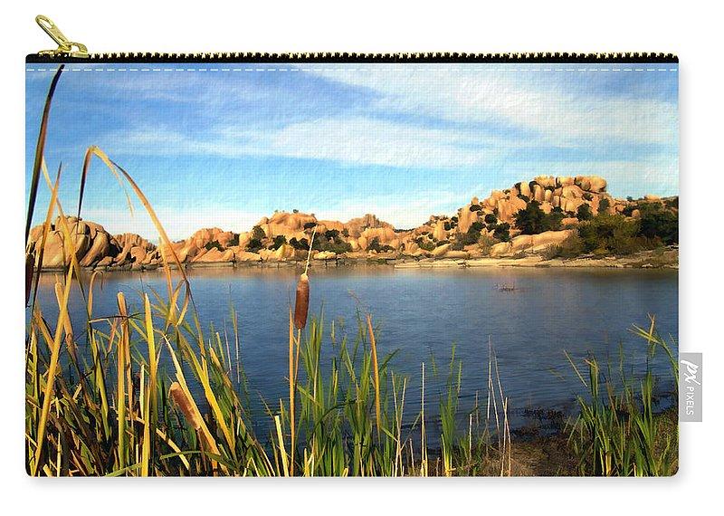 Watson Lake Carry-all Pouch featuring the photograph Watson Lake by Kurt Van Wagner