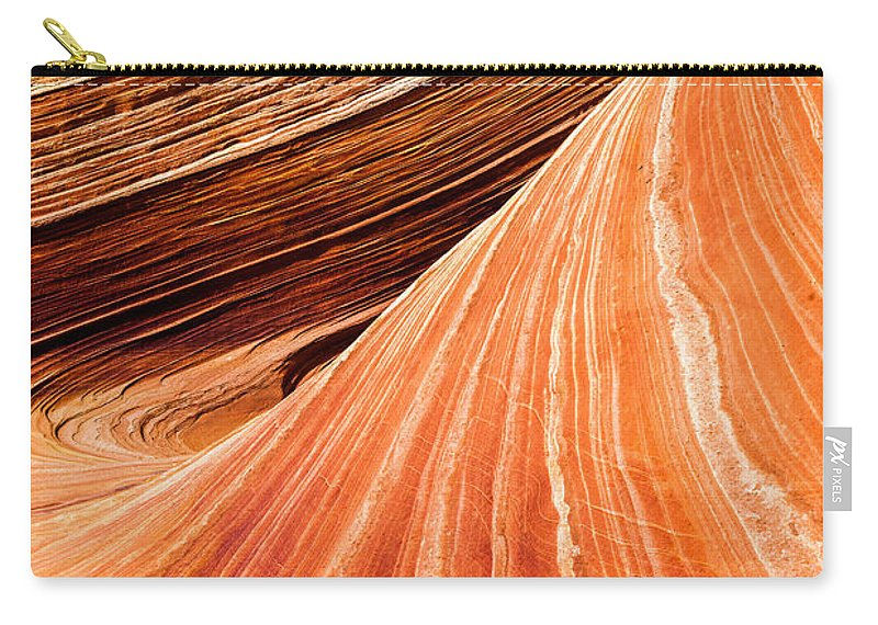 Wave Lines Carry-all Pouch featuring the photograph Wave Lines by Chad Dutson